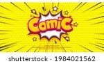 comic pop art cloud bubble.... | Shutterstock .eps vector #1984021562