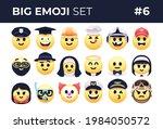 emoji emoticons set.... | Shutterstock .eps vector #1984050572