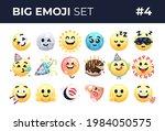 emoji emoticons set isolated.... | Shutterstock .eps vector #1984050575
