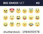 emoji emoticons set isolated.... | Shutterstock .eps vector #1984050578