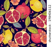 tropical fruits garden at night ... | Shutterstock .eps vector #198406112
