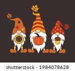 Three Fall Gnomes. Holiday...