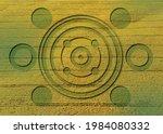 crop circles on green grass ... | Shutterstock .eps vector #1984080332