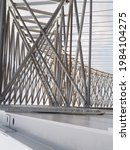 Small photo of bridge construction that forms a pattern and beautiful composition. perfect for ornament picture, explanatory image, poster or presentation