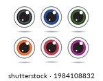 Eye Ball Multicolor Vector...