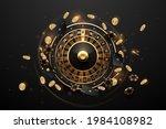 casino roulette in black and... | Shutterstock .eps vector #1984108982