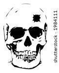 bullet hole skull   vector...   Shutterstock .eps vector #1984111