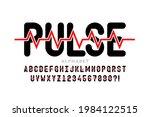 heartbeat pulse line style font ... | Shutterstock .eps vector #1984122515