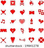 heart icon set | Shutterstock .eps vector #19841278