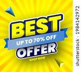 best offer sale banner on... | Shutterstock .eps vector #1984142972