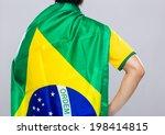 backview of sportman wear with... | Shutterstock . vector #198414815