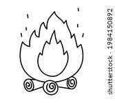 cute black and white fire on... | Shutterstock .eps vector #1984150892