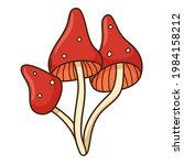 abstract mushrooms  toadstool ... | Shutterstock .eps vector #1984158212