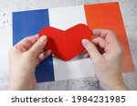 I love france. red heart symbol ...