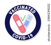 vaccinated flat style concept...   Shutterstock .eps vector #1984239032
