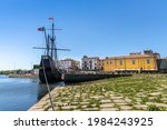 The Historic Ship Docked In...