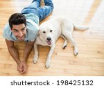 Attractive Man Lying On Floor...