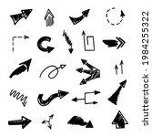 vector set of hand drawn arrows ...   Shutterstock .eps vector #1984255322