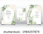 wedding invitation card...   Shutterstock .eps vector #1984257875
