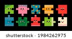 abstract puzzle creatures with... | Shutterstock .eps vector #1984262975