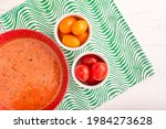 Appetizing Tomato Soup In A...