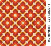 70's retro pattern in floral... | Shutterstock .eps vector #1984283345