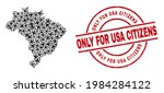 only for usa citizens textured... | Shutterstock .eps vector #1984284122