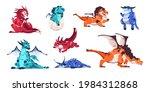baby dragon. cartoon fairytale...   Shutterstock .eps vector #1984312868