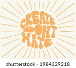 hand lettered quote in 70 style.... | Shutterstock .eps vector #1984329218