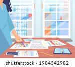 visualize with business... | Shutterstock .eps vector #1984342982