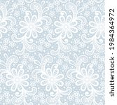 seamless abstract lace floral... | Shutterstock .eps vector #1984364972