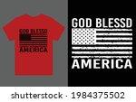 god bless america t shirt... | Shutterstock .eps vector #1984375502