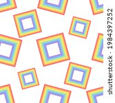 a pattern of rainbow squares...   Shutterstock .eps vector #1984397252