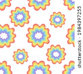 rainbow circles pattern for...   Shutterstock .eps vector #1984397255