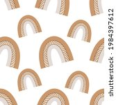 a boho rainbow. for fabrics ...   Shutterstock .eps vector #1984397612