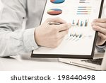 businessman analyzing... | Shutterstock . vector #198440498
