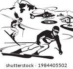 mountain rescue service ensures ...   Shutterstock .eps vector #1984405502