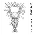 hand drawn surrealistic human...   Shutterstock .eps vector #1984424498