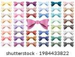 set of various satin bows.... | Shutterstock .eps vector #1984433822