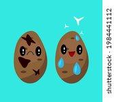 potatoes cartoon characters... | Shutterstock .eps vector #1984441112