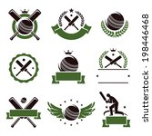 cricket and soccer labels and... | Shutterstock .eps vector #198446468
