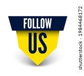 follow us banner. vector...   Shutterstock .eps vector #1984468172