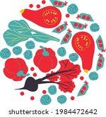 vector vegetables illustration. ... | Shutterstock .eps vector #1984472642