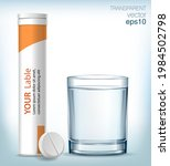 glass of blue water  plastic...   Shutterstock .eps vector #1984502798