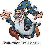 running old cartoon wizard with ...   Shutterstock .eps vector #1984546112