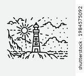 beach nature lighthouse... | Shutterstock .eps vector #1984575092