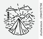 camping nature adventure wild...   Shutterstock .eps vector #1984575758