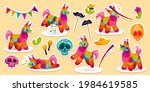 set of stickers mexican donkey... | Shutterstock .eps vector #1984619585