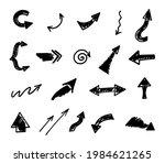 vector set of hand drawn arrows ...   Shutterstock .eps vector #1984621265