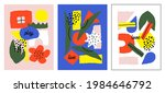 set of abstract hand drawn... | Shutterstock .eps vector #1984646792